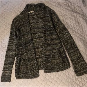 Black & White Sweater with Pockets